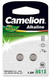 Camelion AG13/LR44/357 Alkaline Buttoncell x2