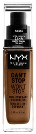 NYX Can't Stop Won't Stop Full Coverage Foundation 30ml Sienna