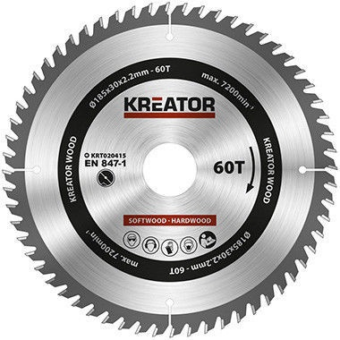 Kreator Sawblade 185x30x2.2mm 60T