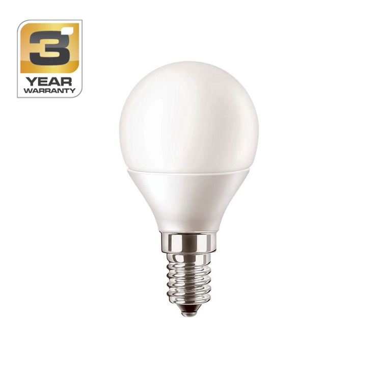SPULDZE LED P45 6W E14 CW FR ND 470LM (STANDART)