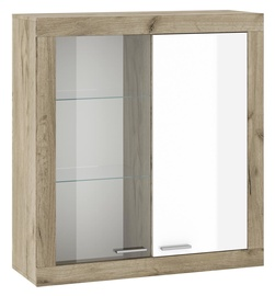 Vitrīna Tuckano WIT-100 Warsaw Oak/White, 1050x1210x370 mm