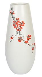 Vaas Home4you Yoko Flowers White, 340 mm