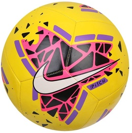 Nike Pitch Football SC3807 710 Yellow/Pink Size 5