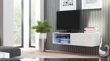 Pakabinama spintelė Livo RTV 120W balta, 120 x 40 x 30 cm