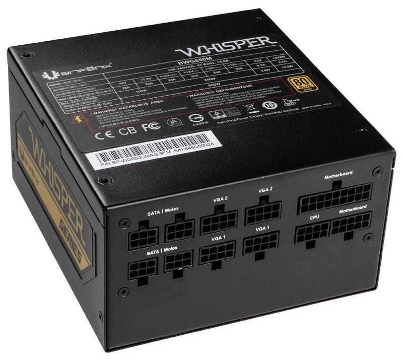 BitFenix PSU Whisper M 80 Plus Gold 650W