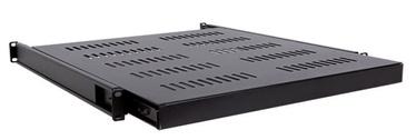 """Linkbasic Sliding Shelf 19"""" for 80mm Black"""