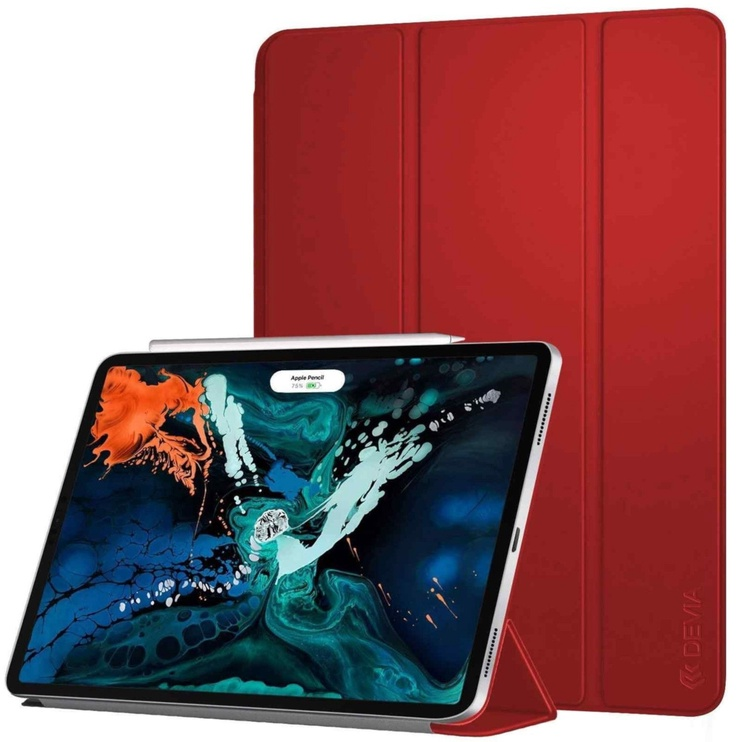 Devia Leather V2 Tablet Case for Apple iPad Pro 11 2018 Red