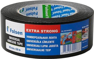 Уплотнительная лента Folsen 0510 Duct tape Universal Black 48mm x 50m