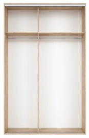 Black Red White Wardrobe Frame Nadir 150 Light San Remo Oak