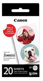Фотобумага Canon Zink Circle 20 Sheets, Наклейки / Canon ZINK