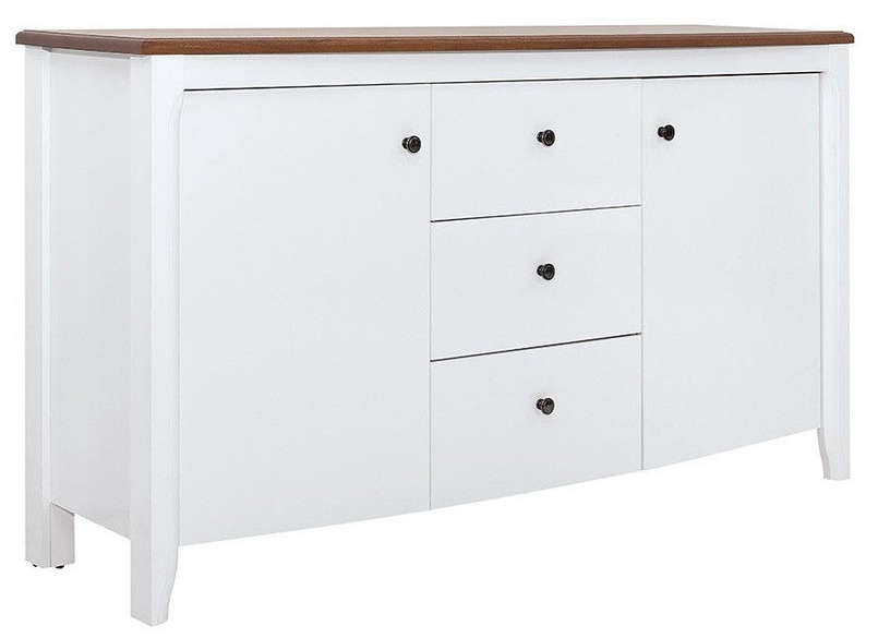 Black Red White Kalio Chest Of Drawers White/Brown