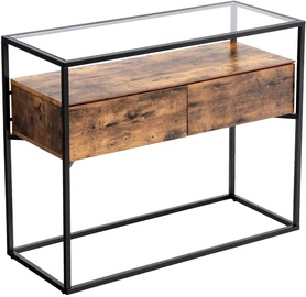 Songmics Console Table 100x40x80cm Brown/Black