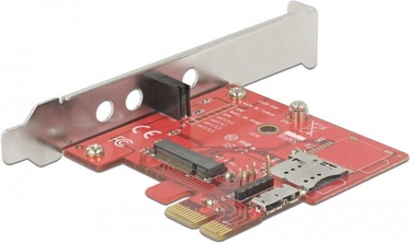 Delock PCIe M.2 + Micro SIM slot LP