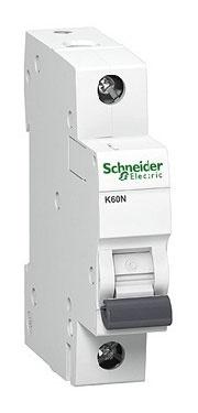 Automatinis jungiklis Schneider K60N, 1P, C, 10A, 6kA
