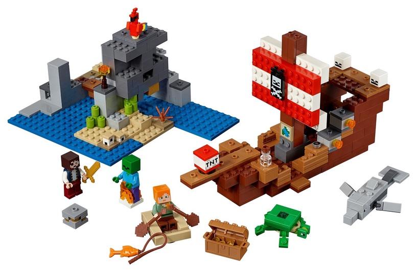 Konstruktorius LEGO Minecraft The Pirate Ship Adventure 21152