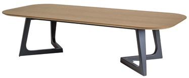 Kafijas galdiņš Signal Meble Lawa Bianka A Oak/Graphite, 1500x380x620 mm