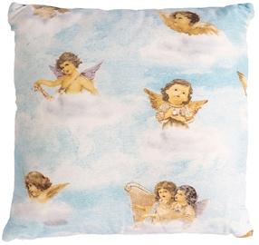 Декоративная подушка Home4you Holly, голубой, 450x450 мм
