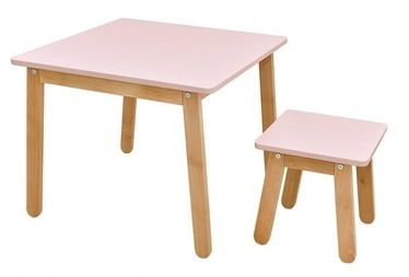 Bērnu mēbeļu komplekts Bellamy Woody Table And Stool Pink