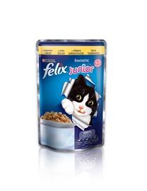 Konservuotas ėdalas jaunoms katėms Felix, su vištiena, 100 gr