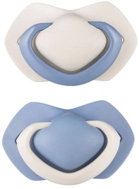 Canpol Babies Silicone Symmetrical Soothers Pure Color 2pcs 0-6m 22/646_blu
