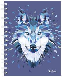 Herlitz Spiral Hardback Notebook A5 Wild Animals Wolf 50027750