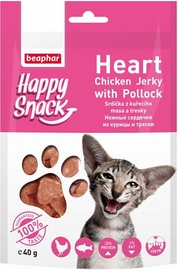 Beaphar Happy Snack Heart Chicken Jerky With Pollock 40g