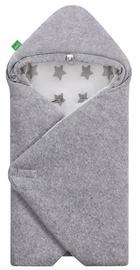 Lulando Velour Swaddle For Yeti Carrier Grey/White With Grey Stars