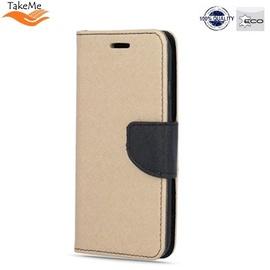 TakeMe Fancy Diary Bookstand Case Xiaomi Redmi Note 7 / Note 7 Pro Gold/Black