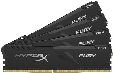 Kingston HyperX Fury Black 128GB 3600MHz CL18 DDR4 KIT OF 4