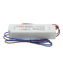 Mean Well Impulse Power Supply LED 12V 3A IP67
