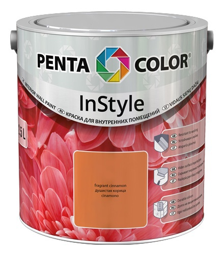 Krāsa Pentacolor in style sarkana smilšu 2,5l