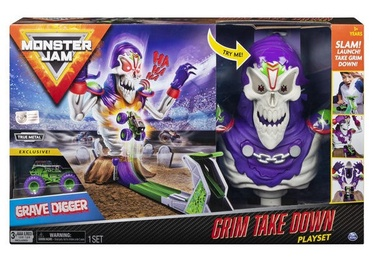 Spin Master Monster Jam Grim Take Down Playset 6046632