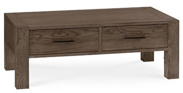 Kohvilaud Home4you Turin Dark Brown/Oak, 1100x600x400 mm