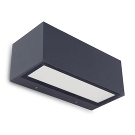 Lutec Wall Light Gemini 1891M Dark Grey