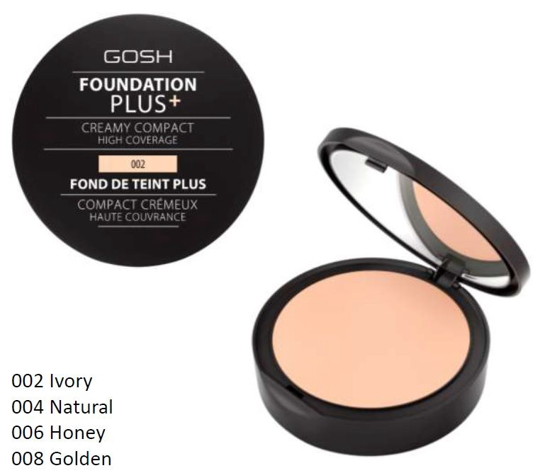 Gosh Foundation Plus + Creamy Compact High Coverage 10g 004