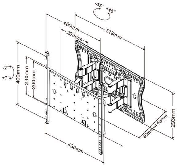 "Multibrackets Wall Mount 26-55"""