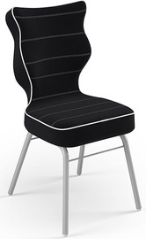 Детский стул Entelo Solo Size 3 JS01, черный/серый, 310 мм x 695 мм