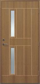 EXTERIOR DOOR LYDIA 2X1R 9X21 TEAK/LEFT