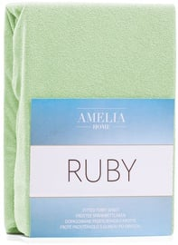 AmeliaHome Ruby Frote Bedsheet 200-220x200 Light Green