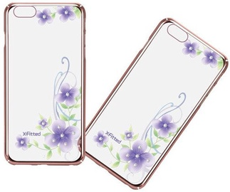 X-Fitted Orchid Fairy Swarovski Crystals Back Case For Apple iPhone 6/6s Rose Gold