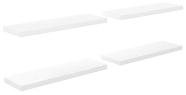 Seinariiul VLX High Gloss 323753, valge, 80 cm x 23.5 cm x 3.8 cm