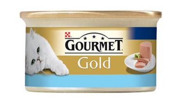 Konservuotas ėdalas katėms Gourmet Gold, su tunu, 85 gr