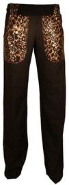 Bars Linen Trousers Black 163 S