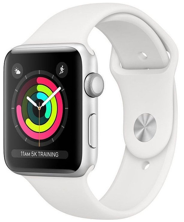 Умные часы Apple Watch Series 3, белый/серебристый