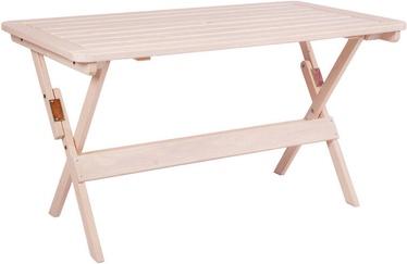 Dārza galds Folkland Timber Heini-2 072, balta, 70 x 70 x 73 cm