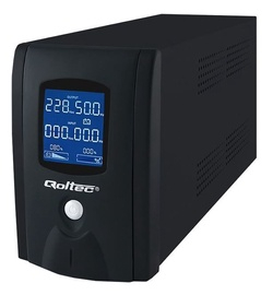Qoltec UPS 800VA / 480W / LCD