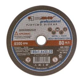 Pjovimo diskas, 180 x 1.6 x 22.23 mm