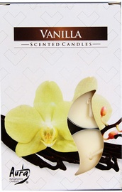 Aura Candles Tea Lights Vanilla 6pcs
