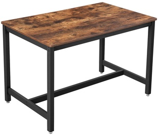 Songmics Industrial Style Dining Table Brown/Black 120x75cm
