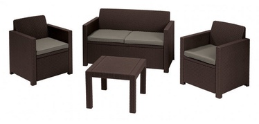 Keter Alabama Garden Furniture Set Brown